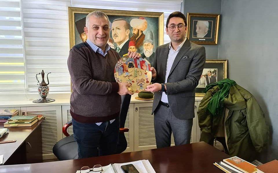 Sn. Metin Külünk'ü ofisinde ziyarette bulunduk