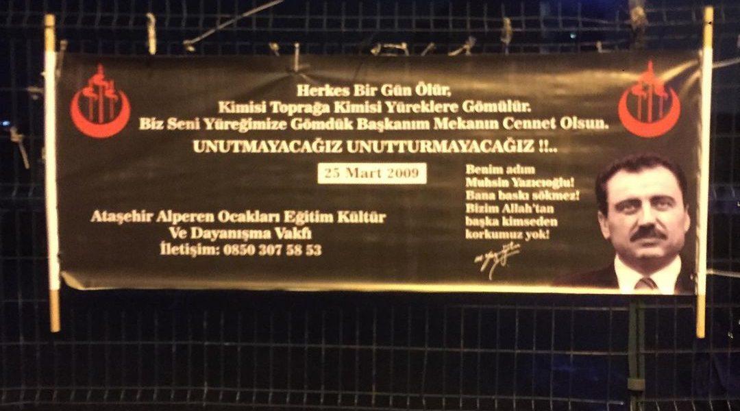 Muhsin Yazıcıoğlu'nu Anma Pankart Çalışmamız